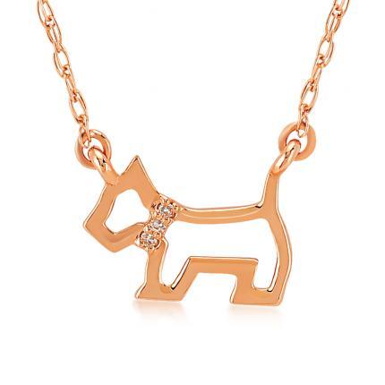 Pırlanta Altın Köpek Kolye